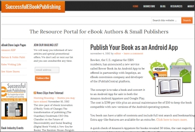 A Resource Portal for eBook Authors and Small Publishers-SuccessfulEBookPublishing.com